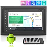 Premium Lanzar Android 6.5' Double Din Bluetooth Widescreen Car Stereo Receiver, Headunit, Touchscreen Tablet Style Display, Wi-Fi Web Browsing, App Download, GPS, HD 1080P Support, SD/USB (SDAND620)