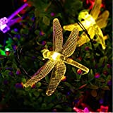 ASERTYL String Lights Night Light Waterproof Dragonfly Lights String Battery Operated String Lights Fairy 20 LED Decorations for Wedding Party Christmas Home Garden Patio 25 m