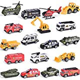 FUN LITTLE TOYS 18 Pcs Easter Eggs Prefilled with Die-cast Cars Toy Vehicles for Party Favors, Easter Basket Stuffers, Easter Egg Fillers, Goodie Bags Fillers, Classroom Prizes, Pinata Fillers