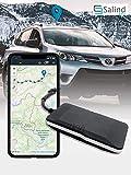 SALIND GPS Rastreador de coche, moto, vehículos y camiones con conexión directa a la batería de coche (12-24 V).