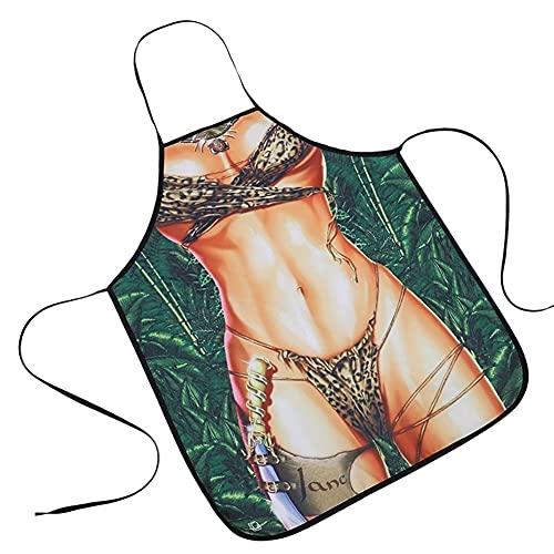 TRSX Delantal de la Cocina Mujer Divertida Pinafore Cocina para Hornear para Hornear Limpieza Linda Delantales (Longitud: 59 * 73cm) (Color : 13)