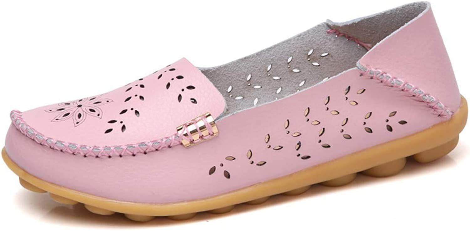 Elsa Wilcox Women Classic Breathable Flat Indoor Casual Moccasin Driving Walking shoes Flat Loafer Comfort Round Toe Slip-on