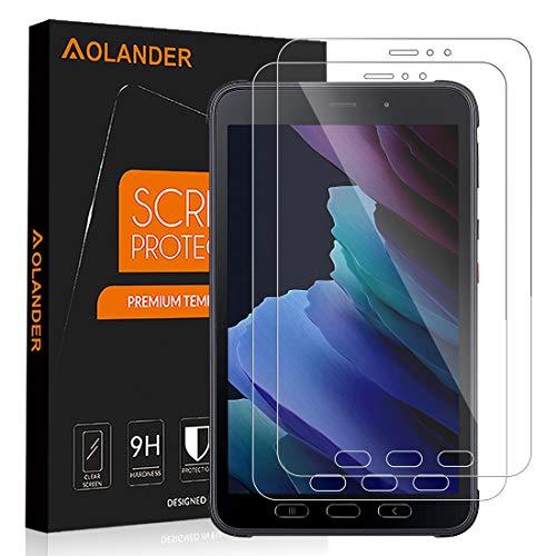 POVINMOS für Samsung Galaxy Tab Active 3 Panzerglas Schutzfolie, 9H Festigkeit 5-Mal verbesserte Panzerglasfolie Hartglas Anti-Kratzer Bildschirmschutzfolie Gehärtetem Glas(2 Stück)