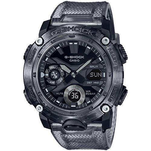 Casio G-Shock By Men's GA2000SKE-8A Analog-Digital Watch Clear Black