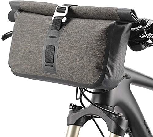 Bolsa de manillar para bicicleta Reflector delantero Bicicleta de montaña Impermeable Gran capacidad Tacto Correa ajustable Correa Bolsa para manillar Marco frontal Equipaje 5-6L Bolsa para bicicleta