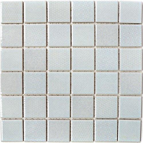 Mosaik Fliesen Mosaikfliesen Keramikmosaik Keramik Kachel hellgrün Celadon Heritage Mint