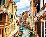 N / A ysyxin Pintura al óleo DIY Kit Digital de Venecia para Regalo para Adultos Pintura Infantil Decoración del hogar-16 x 20 PulgadasSin Marco