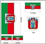 Aufkleber Set Aschaffenburg Fahne Flagge