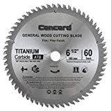 Concord Blades WCB0650T060HP 6-1/2' 60 Teeth TCT General Purpose Hard & Soft...