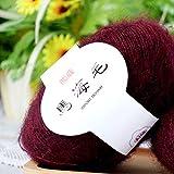 Lana de cachemira suave para tejer de lana para chal, bufanda de ganchillo, 30% Mohair 20% lana, 50% fibra, 39, As Picture Show