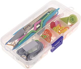 Baosity 1 Set Basic Sewing Knitting & Crochet Tools Accessories DIY Sewing Kit Supplies with Measuring Tape Needles Scissor Thimble Pins