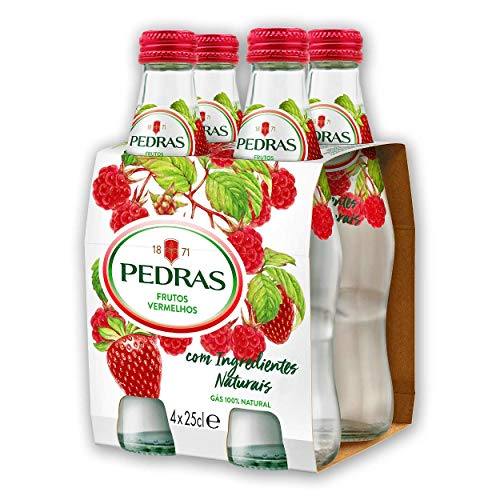 Unicer, Mineralwasser mit Kohlensäure, Mit rote Beeren Geschmack, 4 x 25 cl