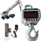 Elektronische Kranwaage Hängewaage Digitale Haken Hängewaage Crane Maßstab mit LED Display und Fernbedienung (5000kg/5T)