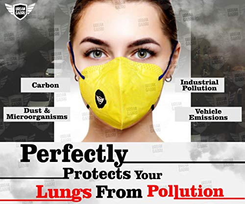 urbangabru Polyester N99 Anti Pollution Mask with 4 Layer Protective Filters Pm 2.5 System
