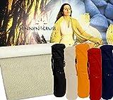 SonnenGruss - Schurwollmatten Schurwollmatte + Baumwoll-Tasche rot - Yoga-Matte Wolle Natur 200x100 cm