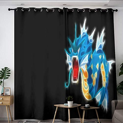 Elliot Dorothy poke-mon Pika chu cartoon Customized curtains Customized Chid Curtains Window Curtain Drape for kids room,baby room W72 x L63