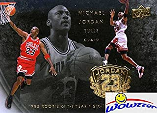2009/10 Upper Deck Michael Jordan LEGACY 1985 Rookie of the Year and SIX Times NBA Champion Special GOLD Card in Mint Condition! Shipped in Ultra Pro Snap Card Holder to Protect it!