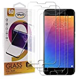 guran 4 pezzi pellicola protettiva in vetro temperato per meizu pro 6 smartphone 9h durezza anti-impronte hd alta trasparenza pellicola