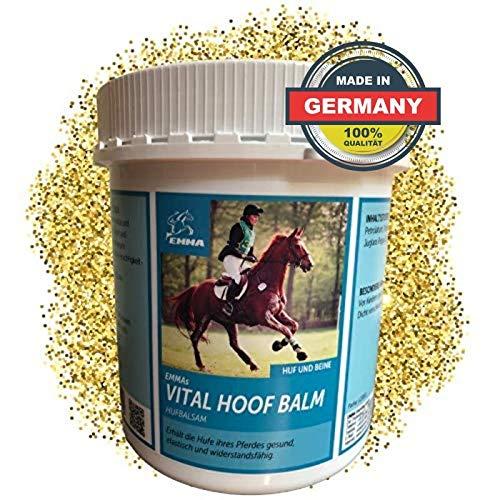 EMMA® Hufbalsam für Pferde I Hufpflege für gesunde Hufe I Huffett Pferde trockene Hufe I Hufsalbe I Huffestiger 1000ML