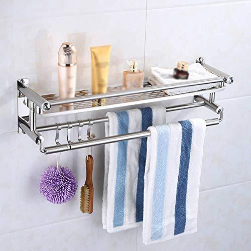 Handdoekenrek, 304 roestvrij staal Handdoekrek voor Badkamers, badkamer plank, Verchroomd, Vouwen Handdoekradiator