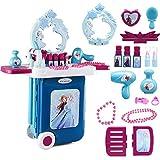 Jinclonder Juego de cosméticos de Mesa de Maquillaje de Juego de imaginación más Nuevo, Juego de Juguetes de Mesa de Maquillaje congelado Juego de imaginación Juguete de niños