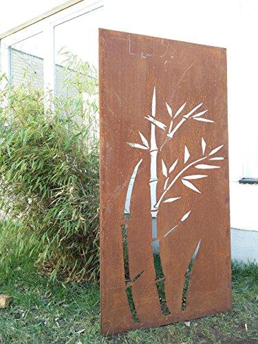 Zen Man Garten Sichtschutz aus Metall Rost Gartenzaun Gartendeko edelrost Sichtschutzwand 031344-1 150 * 75 * 2cm