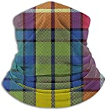 N/A Buchanan Calentador de cuello de vellón de tartán antiguo - Tubo de polaina reversible para cuello, Versatilidad Calentador de oídos Diadema y máscara para hombres y mujeres