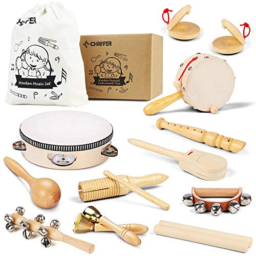 Wooden Musical Instrument Toys for Toddlers and Kids