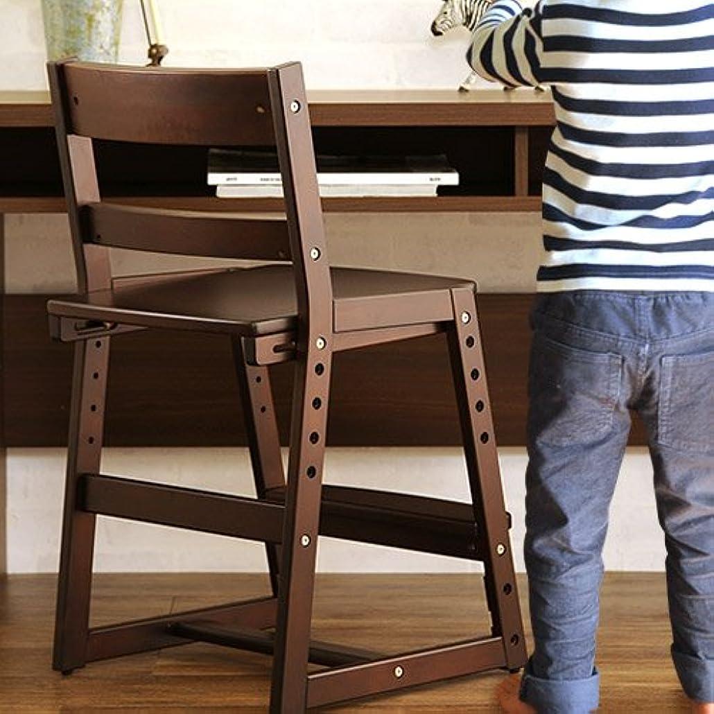 回転優越死Cousin(カズン) 高さ調整チェア ダークブラウン 学習チェア 子供椅子