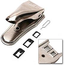 Incutex Doble Cortador cortadora Tarjeta SIM para moviles, Smartphones, tabletas, Plata