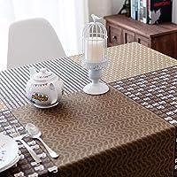 テーブルクロス 北欧 長方形 120×180cm 綿麻生地 テーブルカバー コーヒー豆 テーブルマット 防塵 耐熱 天然素材 雰囲気 自宅用 喫茶店 インテリア用品 新築お祝い