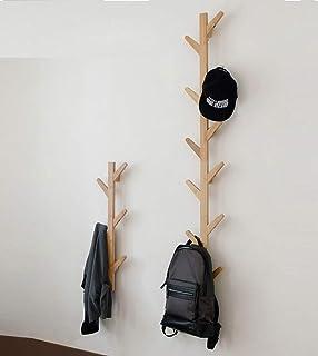 GHY Porte-manteau mural décoratif en bois massif à suspendre, pour salon, chambre à coucher