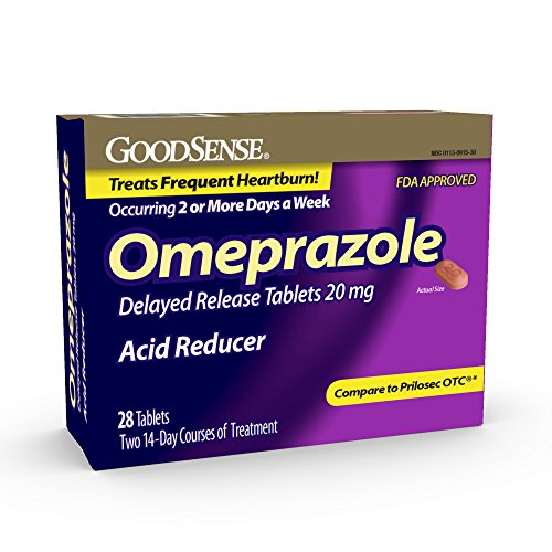 Price comparison product image GoodSense Omeprazole Delayed Release Tablets 20 mg,  Acid Reducer,  Treats Heartburn,  28 Count