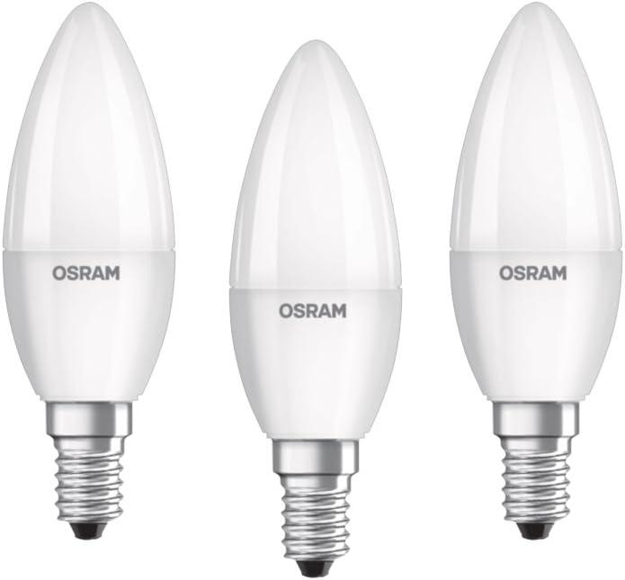 OSRAM LED STAR CLASSIC B 60 BLI K Warmweiß SMD Matt E14 Kerze