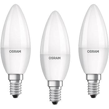 6W blanc chaud dimmable Basics Petite ampoule bougie LED E14 B35 avec culot /à vis Lot de 2 /équivalent ampoule incandescente de 40W