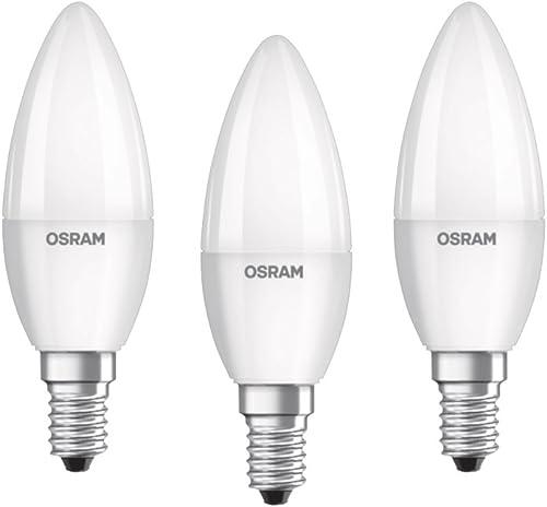 Osram ampoule LED E14 BASE Classic B / 5,5 W - Equivalence incandescence 40 W, ampoule LED en forme de bougie / mat, ...
