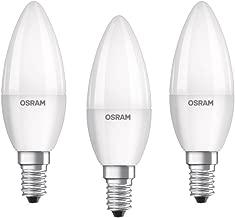 OSRAM LED Base Classic B / LED-lamp in candle shape with E14-base / not dimmable / replacement for 40 Watt / Matt / cool white - 4000 Kelvin / 3er-Blister