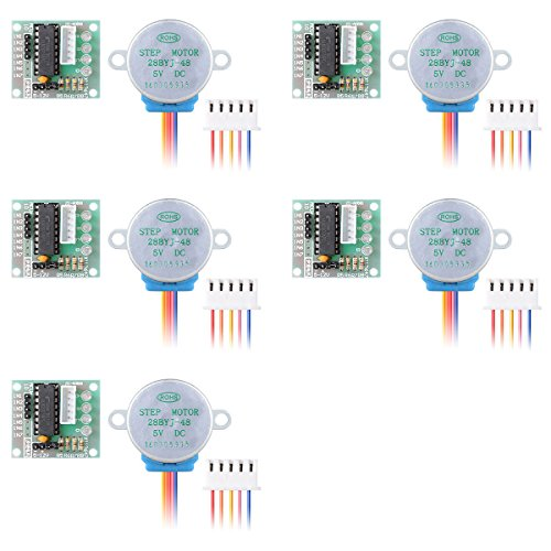 XZANTE 5 pieces DC 5V controleurs de moteur pas a pas + ULN2003 Carte de module de pilote 28BYJ-48 TE118