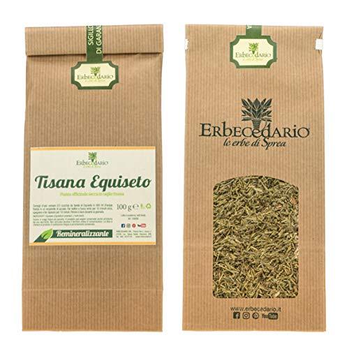 Tisana Equiseto Erbecedario, Drenante E Remineralizzante, Benessere Ossa, Unghie E Capelli, 1 Sacchetto 100g