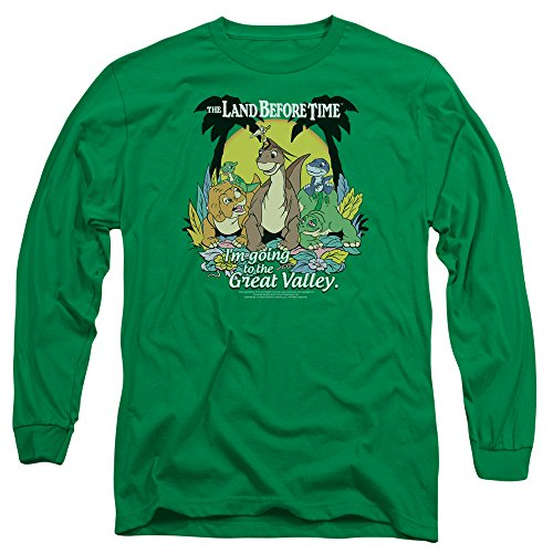 Land Before Time - T-shirt Great Valley Men manches longues, Medium, Kelly Green