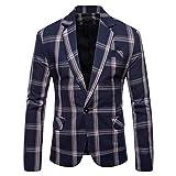 Mens Casual Blazers Sport Coats for Jeans Slim Fit Floral Plaid Print Suit Jackets