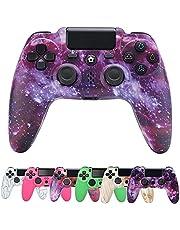 PS4コントローラー、滑り止めハンドルオーディオジャック、6軸ジョイスティックPlayStation 4 / PS4 Slim / PS4Pro用ダブルショック付きワイヤレスBluetoothゲームパッドコントローラー (Color : Purple sky (upgraded version))