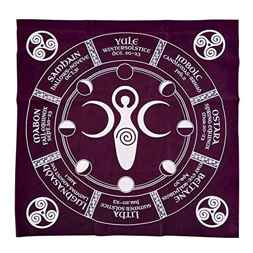 Mantel de tela de Tarot Altar 12 Constellation, mantel astrología, tarota, tarjeta de adivinación, mantel
