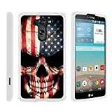 TurtleArmor | Compatible with LG G Vista Case | LG G Pro 2 Lite Case [Slim Duo] Two Piece Hard Cover Slim Snap On Case on White - US Flag Skull
