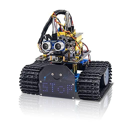 KEYESTUDIO Mini Tank Robot V2 Smart Car Kit for...