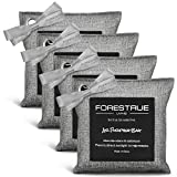 FORESTRUE Bamboo Charcoal Air Purifying Bags, Activated Charcoal Odor Absorber, Car Air Freshener, Bamboo Charcoal bags for Home, Pet, Closet, Basement, Fridge