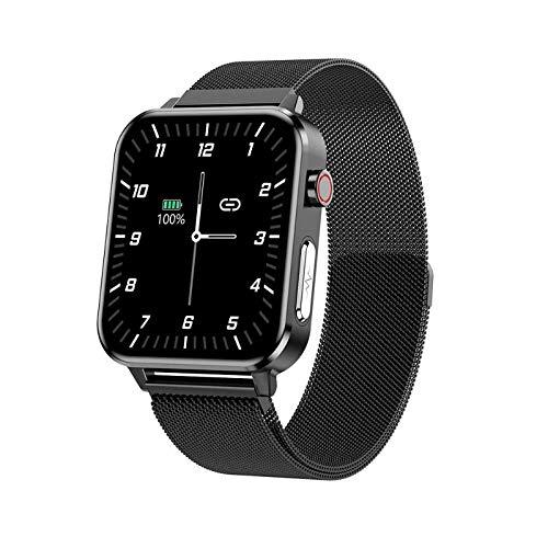 QIUQIAN Reloj inteligente E86, IP68, resistente al agua, reloj podómetro, monitor de actividad física con monitor de frecuencia cardíaca, pulsera inteligente para hombres y mujeres