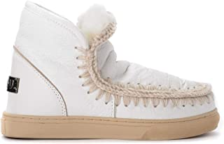 Mou Woman's Stivaletto Mini Eskimo Sneaker in Pelle Bianca