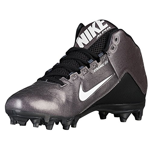 Nike Men's Alpha Strike 2 3/4 TD Football Cleat (11.5, Black/Dark Grey/White)