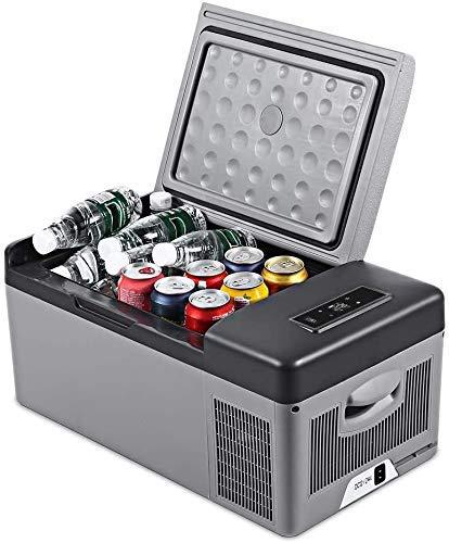 TTOOY Refrigerador de Coche, refrigerador portátil, compresor de Nevera para el hogar, AC/DC, Pantalla LED, congelador, Picnic, Camping, Fiesta, refrigeración 15L